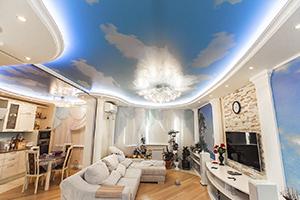 Заказать потолок с рисунком в Дмитрове
